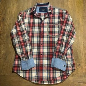 Zara Men's plaid shirt with flannel accents Large
